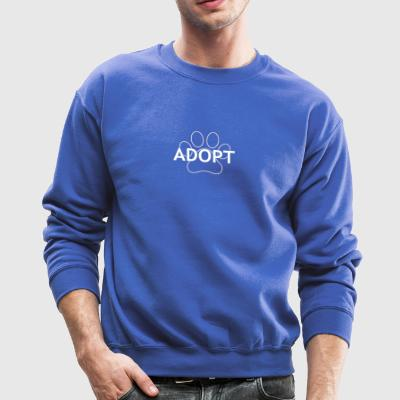 Adopt a Dog Cute Design - Crewneck Sweatshirt