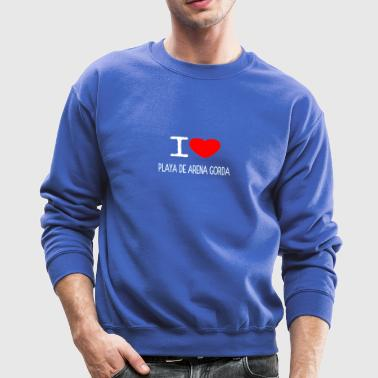 I LOVE PLAYA DE ARENA GORDA - Crewneck Sweatshirt