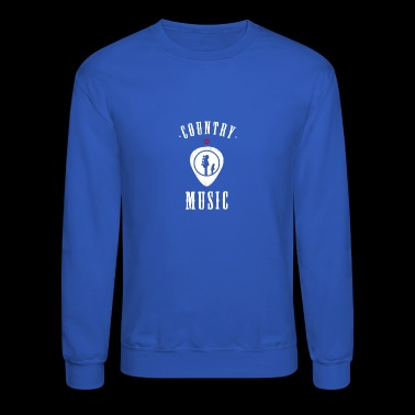 country music plectron Guitar Tennessee cowboy lol - Crewneck Sweatshirt
