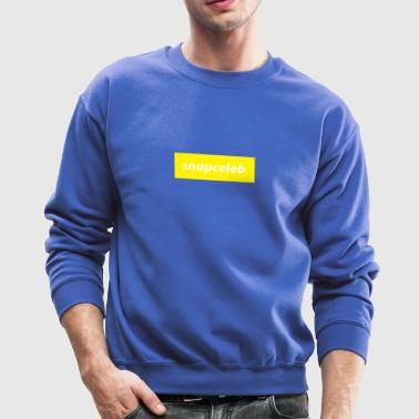 snapceleb white on yellow - Crewneck Sweatshirt