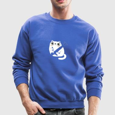 Cuddly Combat Cat - Crewneck Sweatshirt