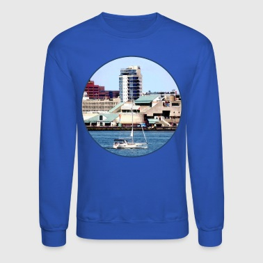 Philadelphia PA - Sailboat by Penn's Landing - Crewneck Sweatshirt