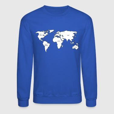 World map - Crewneck Sweatshirt