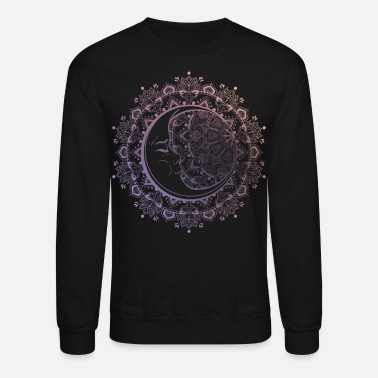 Colorcontest Moon mandala flowers and ornaments bohemian design - Unisex Crewneck Sweatshirt