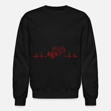 70621ccfb Heartbeat Heart Heartbeat Love Lovers Together Gift Idea - Unisex Crewneck  Sweatshirt