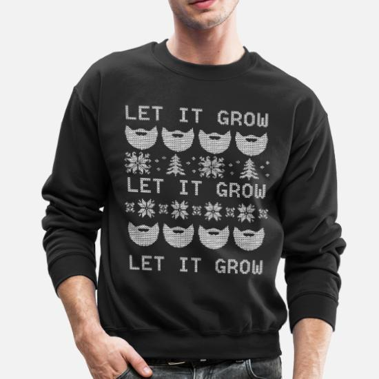 Let it Grow Beard Christmas Unisex Sweatshirt tee