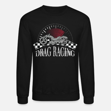 Checkered Motorcyle Drag Racing Checkered Flag Shirt - Unisex Crewneck Sweatshirt