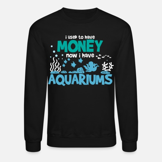 Saltwater Hoodies & Sweatshirts - Aquarium Fishtank - Unisex Crewneck Sweatshirt black