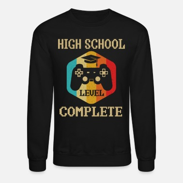 Middle School High School Level Complete Gamer Graduation 2020 - Unisex Crewneck Sweatshirt