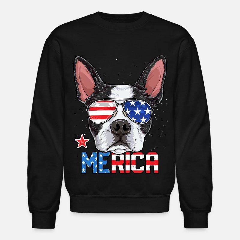 ca038bbfd84 Terrier Hoodies   Sweatshirts - Boston Terrier Merica 4th of July T shirt  Men Boys Dog