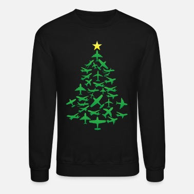 Aviation A Christmas tree from airplanes - Unisex Crewneck Sweatshirt