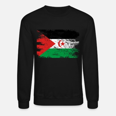 Sahrawi Arab Republic Shirt Gift Country Flag Patriotic Travel Africa Light - Unisex Crewneck Sweatshirt