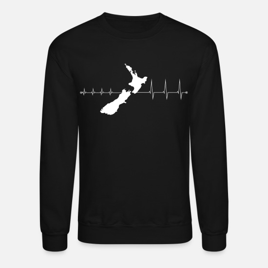 Aotearoa Hoodies & Sweatshirts - T-Shirt New Zealand - I love New Zealand - Unisex Crewneck Sweatshirt black