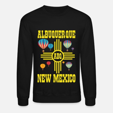 Bright Albuquerque Balloon New Mexico Hot Air Balloon - Unisex Crewneck Sweatshirt