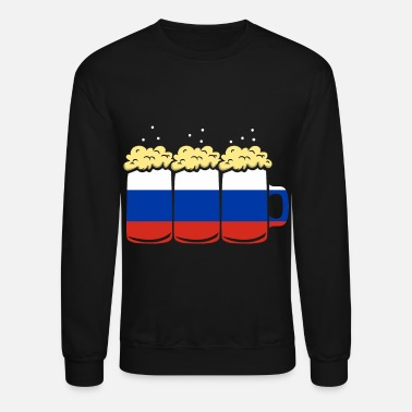 Motivational Russia Flag Country Beer Brew Gift - Unisex Crewneck Sweatshirt