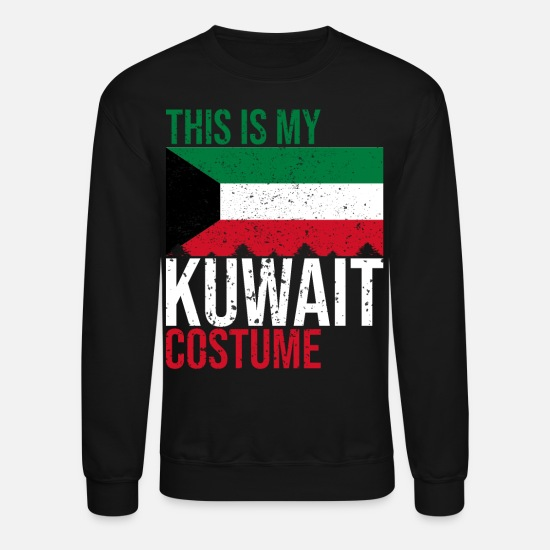 Kuwait Hoodies & Sweatshirts - This is my Kuwait Costume Halloween T-Shirt - Unisex Crewneck Sweatshirt black