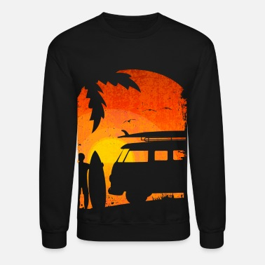 Surfer Surfer at sunset grunge - Crewneck Sweatshirt