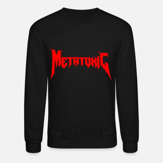 Dragon Head Hoodies & Sweatshirts - METATOXIC Text Logo - Unisex Crewneck Sweatshirt black