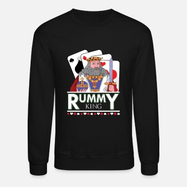 Gin Rummy King Gin TwoPlayer Card Game French Cards - Unisex Crewneck Sweatshirt