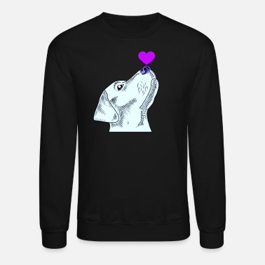 Lover Cute Labrador dog with a pink heart on his nose - Unisex Crewneck Sweatshirt