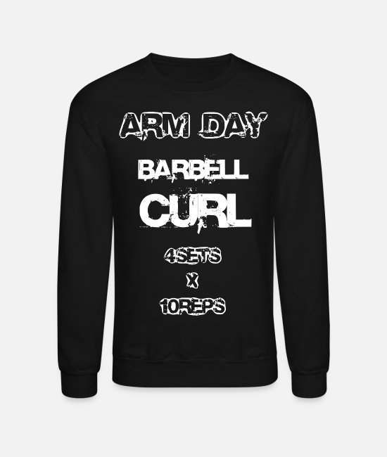 Training Hoodies & Sweatshirts - ARM DAY Training Gym 2reborn BARREL CURL - Unisex Crewneck Sweatshirt black