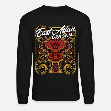 Mythical Beast Cool Chinese Dragon Head Mythical Beast Legendary - Unisex Crewneck Sweatshirt