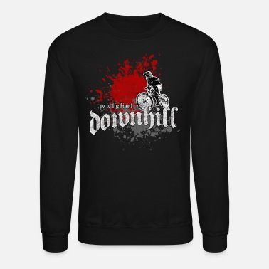 Downhill downhill - mountain biking - Crewneck Sweatshirt