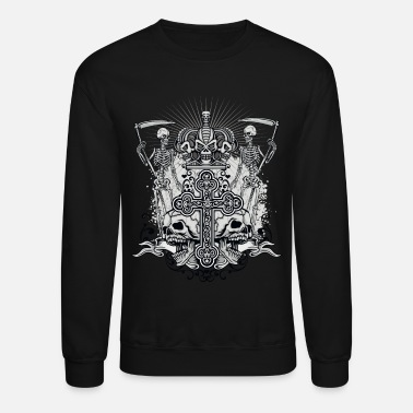 Hard Rock Heavy Metal, Hard Rock Skull - Unisex Crewneck Sweatshirt