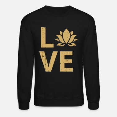 Lotus love buddhism lotus flower gift idea - Unisex Crewneck Sweatshirt