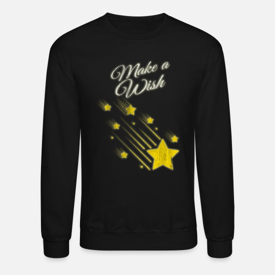 Gift Idea Hoodies & Sweatshirts - Shooting Stars Wish - Unisex Crewneck Sweatshirt black