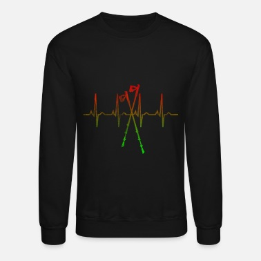 Walking Stick Nordic Walking Sticks Heart - Crewneck Sweatshirt