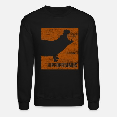 Threatend Species Hippo Endangered Species - Unisex Crewneck Sweatshirt