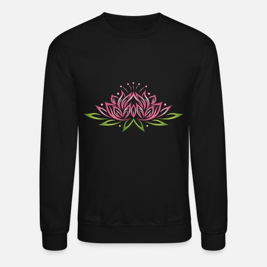 Large Lotus Flower With Colorful Effects Yoga We Unisex Crewneck