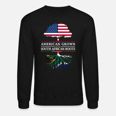 South American Grown with South African Roots South Africa Design - Unisex Crewneck Sweatshirt