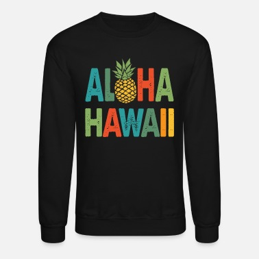 90s Surfing Aloha Hawaii Pineapple Retro - Unisex Crewneck Sweatshirt
