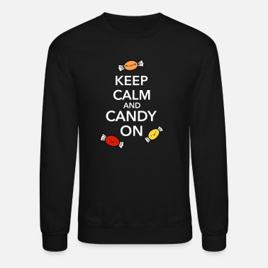 Spreadfun Halloween Candy Keep Calm Fun Shirt - Crewneck Sweatshirt
