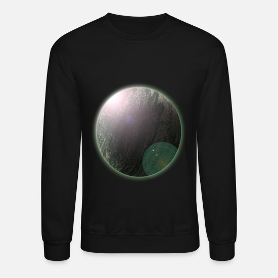 Astronaut Hoodies & Sweatshirts - Planet - Unisex Crewneck Sweatshirt black