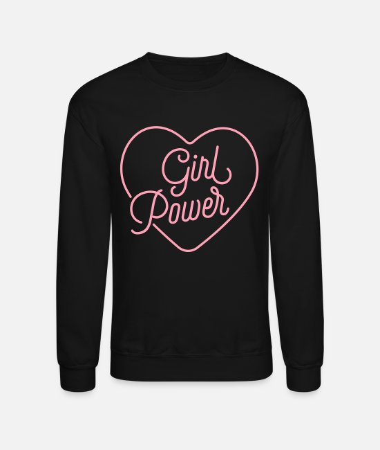 Favorite Hoodies & Sweatshirts - Girl Power Love - Unisex Crewneck Sweatshirt black