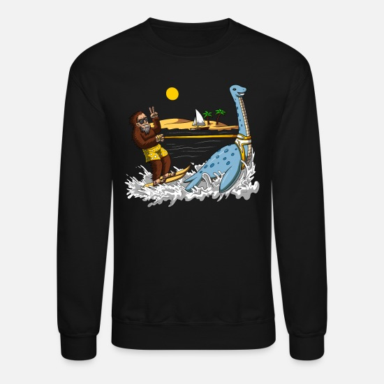 Loch Ness Monster Hoodies & Sweatshirts - Bigfoot Loch Ness Monster Summer Conspiracy - Unisex Crewneck Sweatshirt black