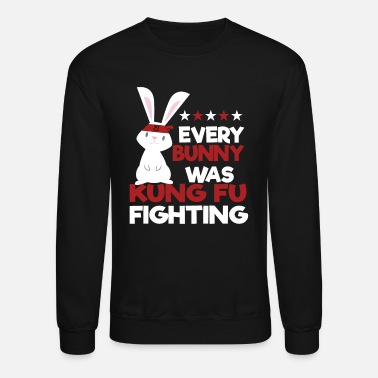 Egg Kung Fu Fighting Bunny - Unisex Crewneck Sweatshirt