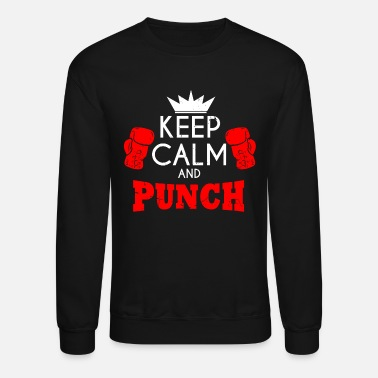 Boxing Match Boxing Boxing Gloves Sport Hobby Match Sparrring - Crewneck Sweatshirt