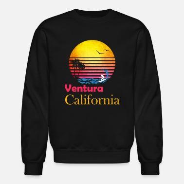 f35a12d756 Retro Ventura California Beach Bum Surfer print - Unisex Crewneck Sweatshirt