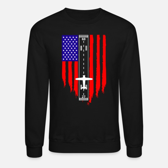 Aviation Hoodies & Sweatshirts - Private and Commercial American Pilot Aviator - Unisex Crewneck Sweatshirt black