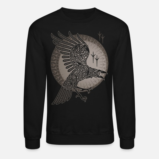 Viking Hoodies & Sweatshirts - RAVEN - Unisex Crewneck Sweatshirt black
