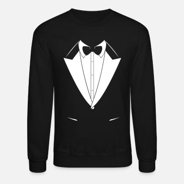 Formal Tuxedo Suit Design - Crewneck Sweatshirt