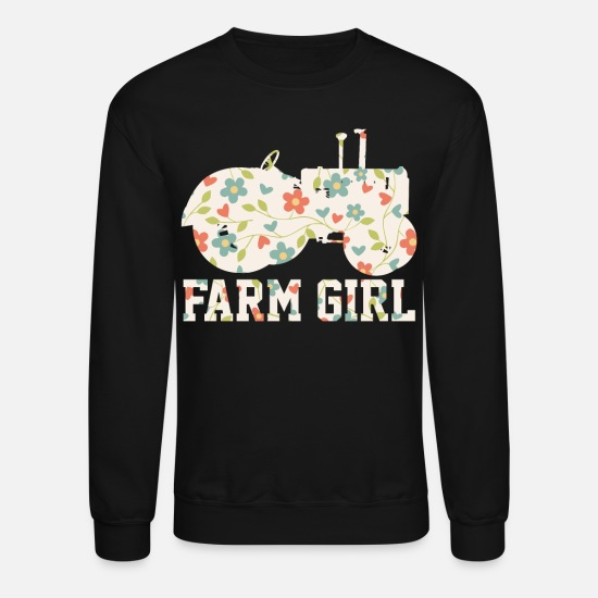 Farmer Hoodies & Sweatshirts - Farmer Farm Girl - Unisex Crewneck Sweatshirt black