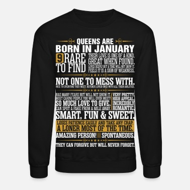 January 9 January 9 For 9 Rare To Find Queens Are Born In January - Crewneck Sweatshirt