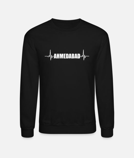 Ahmedabad Hoodies & Sweatshirts - Ahmedabad Hyderabad India - Unisex Crewneck Sweatshirt black
