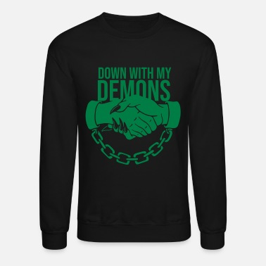Down Down with my Demons - Unisex Crewneck Sweatshirt