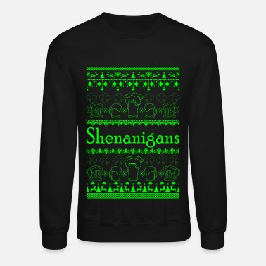 Cloverleaves Ugly Christmas Sweater - Holiday Shenanigans - Unisex Crewneck Sweatshirt